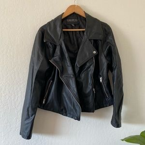 Forever 21 Plus Faux Vegan Leather Moto Jacket